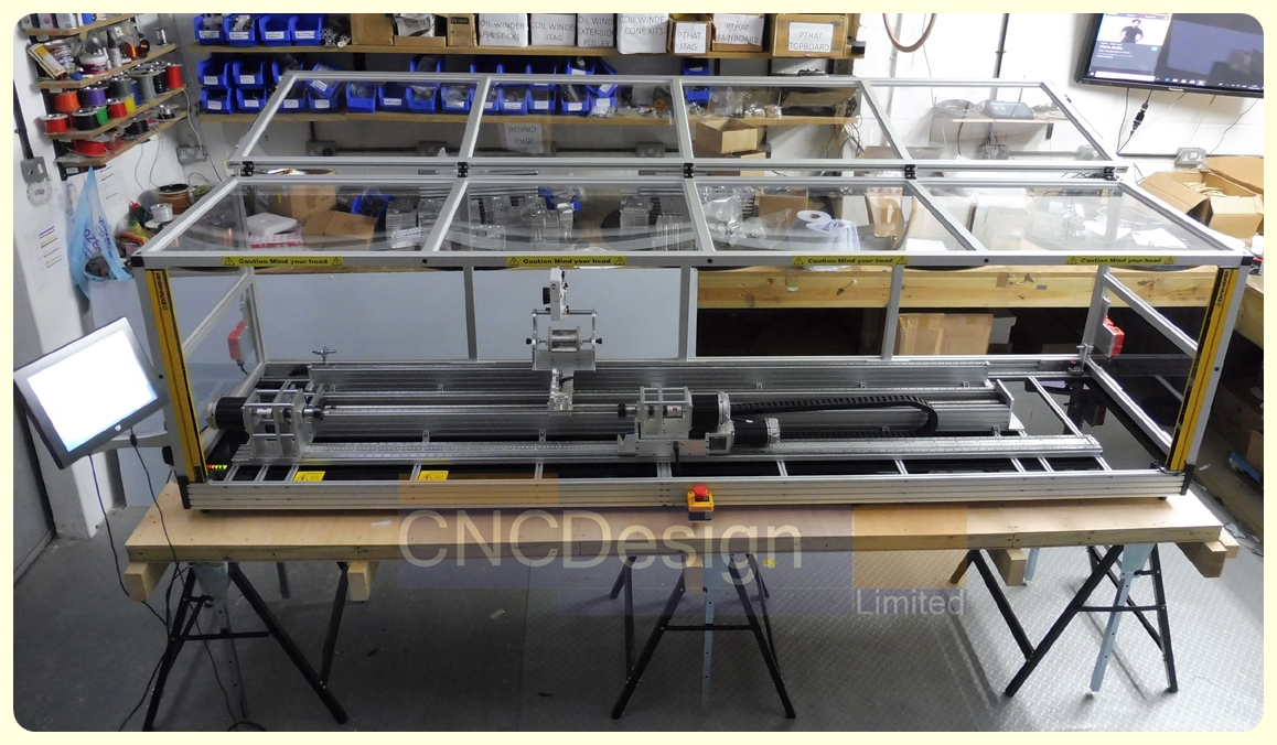 CNC 2000mm Coil Winder with Dual Bobbin Motors